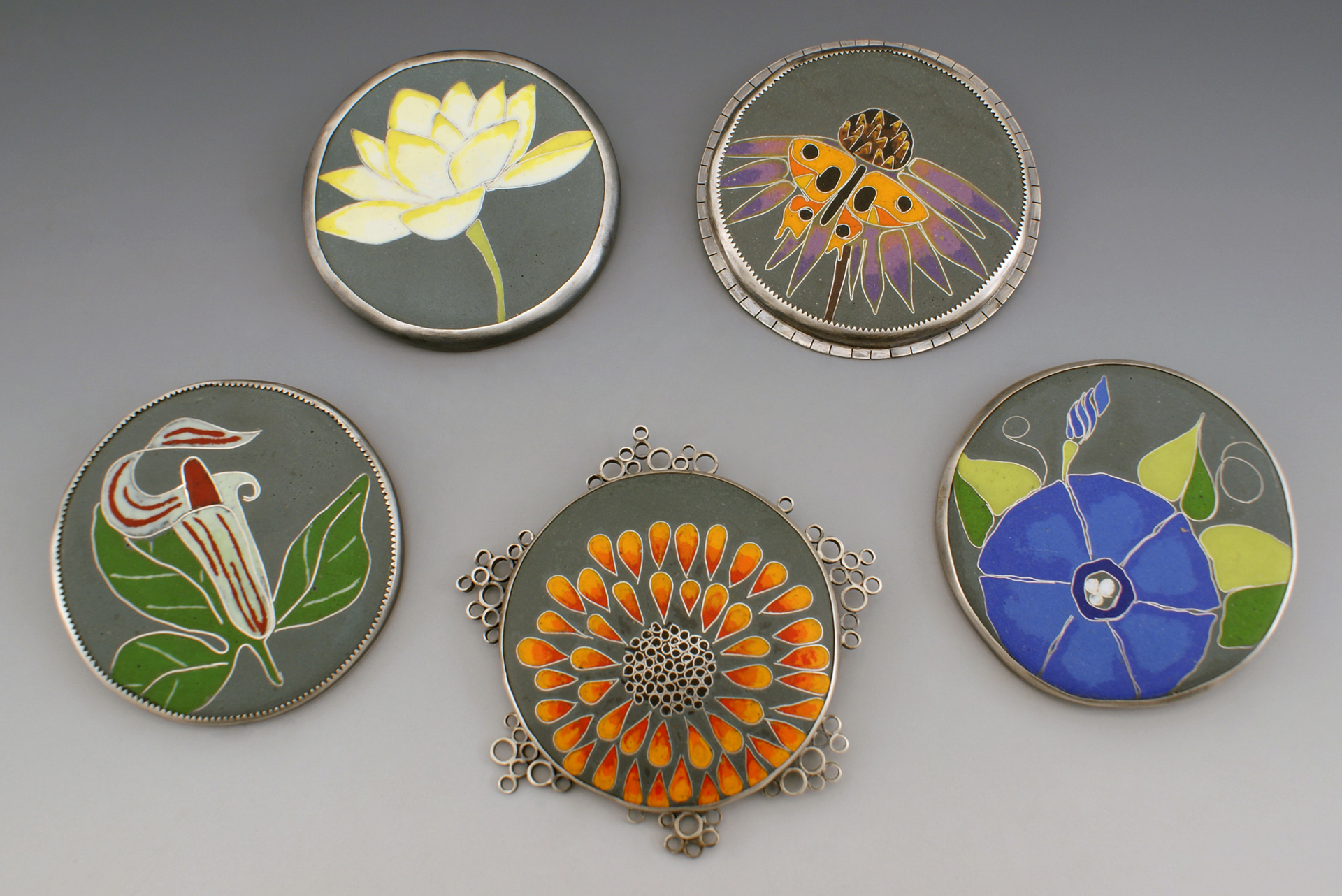 From My Garden, a brooch series